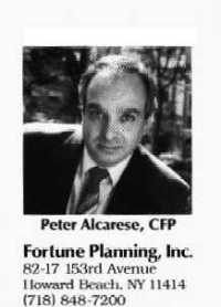 Peter  Alcarese,  CFP<sup>&reg;</sup> - Financial Advisor